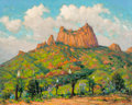 Fine Art - Painting, American:Modern  (1900 1949)  , Dwight Clay Holmes (American, 1900-1986). Casa Grande, Big BendNational Park, 1941. Oil on Masonite. 24 x 30 inches (61...