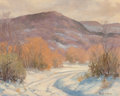 Fine Art - Painting, American:Contemporary   (1950 to present)  , Harold Arthur Roney (American, 1899-1986). Early Snow,Texas. Oil on canvasboard. 15-3/4 x 19-3/4 inches (40.0 x 50.2cm...