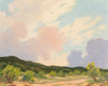 Fine Art - Painting, American:Contemporary   (1950 to present)  , Harold Arthur Roney (American, 1899-1986). Texas at Dusk.Oil on canvasboard. 16 x 20 inches (40.6 x 50.8 cm). Signed lo...