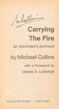 Autographs:Celebrities, Michael Collins Signed Book: Carrying the Fire....