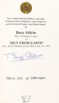 Autographs:Celebrities, Buzz Aldrin Signed Limited Edition Book (#809/1500): Men FromEarth. ...