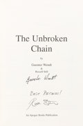 Autographs:Celebrities, Guenter Wendt and Russell Still Signed Book: The UnbrokenChain. ...