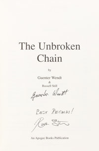 Guenter Wendt and Russell Still Signed Book: The Unbroken Chain