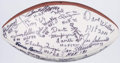 Football Collectibles:Balls, Football Hall of Famers Multi-Signed Football....