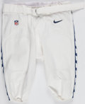 Football Collectibles:Others, 2015 Seattle Seahawks Team Issued Pants - With Team Hologram. ...
