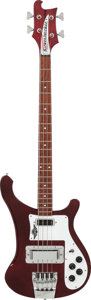 Musical Instruments:Bass Guitars, 1974 Rickenbacker 4000 BurgundyGlo Electric Bass Guitar, Serial # NA 260, Weight: 9.2 lbs....