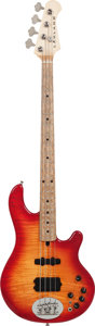 Musical Instruments:Bass Guitars, 1995 Lakland Deluxe Cherry Sunburst Effect Pedal, Serial # 092,Weight: 9.2 lbs....