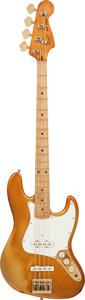 Musical Instruments:Bass Guitars, 1982 Fender Jazz Bass Gold Electric Bass Guitar, Serial # CB11457, Weight: 10 lbs....
