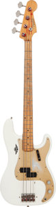 Musical Instruments:Bass Guitars, 1958 Fender Precision Bass White Effect Pedal, Serial # 027163,Weight: 8 lbs....