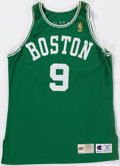 Basketball Collectibles:Uniforms, 1996-97 Greg Minor Game Worn Boston Celtics Jersey and Shorts....