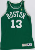 Basketball Collectibles:Uniforms, 1996-97 Todd Day Game Worn Boston Celtics Jersey and Shorts....