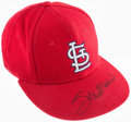 Baseball Collectibles:Hats, Stan Musial Signed St. Louis Cardinals Signed Cap....