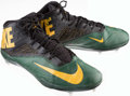 Football Collectibles:Others, 2014 Green Bay Packers Game Worn Cleats. ...