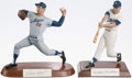 Baseball Collectibles:Others, Sandy Koufax and Duke Snider Signed Figurines (2)....