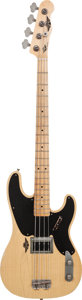 Musical Instruments:Bass Guitars, 2010 RS Guitarworks Old Friend Slab Blonde Electric Bass Guitar, Serial # 710-01RS, Weight: 6.2 lbs....