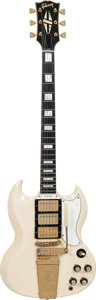 Musical Instruments:Electric Guitars, 1965 Gibson SG Custom White Solid Body Electric Guitar, Serial #340471, Weight: 7.2 lbs....