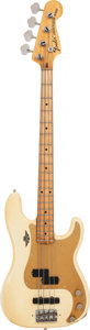 Musical Instruments:Bass Guitars, 1971 Fender Precision Bass White Electric Bass Guitar, Weight: 11.4 lbs....