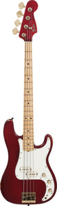 Musical Instruments:Bass Guitars, 1980 Fender Precision Bass Special Red Electric Bass Guitar, Serial # E013009, Weight: 10.6 lbs....