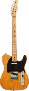 Musical Instruments:Electric Guitars, 1957 Fender Telecaster Blonde Solid Body Electric Guitar, Serial #-22666, Weight: 7.2 lbs....