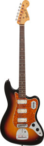Musical Instruments:Electric Guitars, 1962 Fender Bass VI Sunburst Solid Body Baritone Electric Guitar,Serial # 76581, Weight: 9.2 lbs....