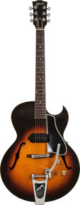 Musical Instruments:Electric Guitars, 1956 Gibson ES-225T Sunburst Hollow Body Electric Guitar, Serial # V5704 27, Weight: 6.4 lbs...