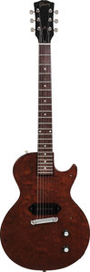 Musical Instruments:Electric Guitars, 1957 Gibson Les Paul Junior Brown Solid Body Electric Guitar,Weight: 7.8 lbs....