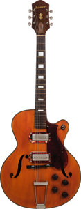 Musical Instruments:Electric Guitars, 1950's Harmony Natural Hollow Body Electric Guitar, Weight: 7lbs....