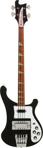 Musical Instruments:Bass Guitars, 1977 Rickenbacker 4001 Black Electric Bass Guitar, Serial # QI 3705, Weight: 9.6 lbs....