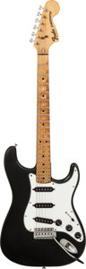 Musical Instruments:Electric Guitars, Circa 1977 Fender Stratocaster Black Solid Body Electric Guitar,Serial # S790149, Weight: 9 lbs....