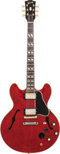 Musical Instruments:Electric Guitars, 1964 Gibson ES-345 Cherry Semi-Hollow Body Electric Guitar, Serial# 167336, Weight: 8.6 lbs....