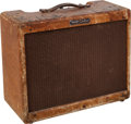 Musical Instruments:Amplifiers, PA, & Effects, 1958 Fender Deluxe Tweed Guitar Amplifier, Serial # D05953....