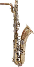 Musical Instruments:Horns & Wind Instruments, 1967 C.G. Conn 12M Brass Baritone Saxophone, Serial # K50801....