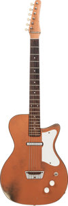 Musical Instruments:Electric Guitars, 1960 Silvertone U-1 Copper Solid Body Electric Guitar, Weight 6.2lbs....