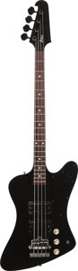 Musical Instruments:Bass Guitars, 1988 Greco TB-100 Black Electric Bass Guitar, Serial # L883830, Weight: 9 lbs....