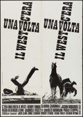 """Movie Posters:Western, Once Upon a Time in the West (Euro International, 1968). Italian 2 - Fogli (39.25"""" X 55""""). Western.. ..."""