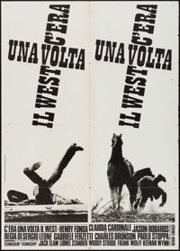 "Once Upon a Time in the West (Euro International, 1968). Italian 2 - Fogli (39.25"" X 55""). Western"
