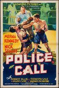 """Movie Posters:Crime, Police Call (Showmens Pictures, 1933). One Sheet (27"""" X 41"""").Crime.. ..."""