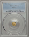 California Fractional Gold , Undated 25C Liberty Round 25 Cents, BG-221, R.3, MS63 PCGS. PCGSPopulation: (57/46). NGC Census: (14/7). ...