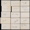 Baseball Collectibles:Others, Baseball Stars Signed Index Cards Lot of 50+....