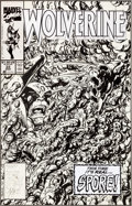 Original Comic Art:Covers, John Byrne Wolverine #22 Cover Original Art (Marvel,1990)....