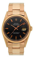 Timepieces:Wristwatch, Rolex Ref. 1601 Vintage Gold Oyster Perpetual Datejust, circa 1960. ...