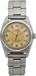 Timepieces:Wristwatch, Rolex Ref. 5050 Steel Bubble Back Possibly For Restoration. ...