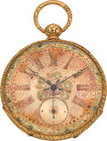 Timepieces:Pocket (pre 1900) , Robert Melly & Co. Geneva 18k Fancy Dial Key Wind, circa1860's. ...