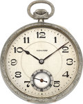 Timepieces:Pocket (post 1900), Howard 14k White Gold 12 Size, circa 1923. ...