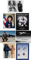 Autographs:Celebrities, Space and Aviation Autograph Collection. ... (Total: 7 Items)