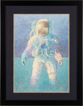 "Explorers:Space Exploration, Alan Bean Signed Limited Edition ""That's How It Felt to Walk on theMoon"" Print, #356/850, in Framed Display. ..."