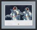 "Explorers:Space Exploration, Alan Bean Signed Limited Edition ""Heavenly Reflections"" Print, alsoSigned by Charles Conrad, #164/850, in Framed Display. ..."