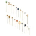 Estate Jewelry:Stick Pins and Hat Pins, Diamond, Multi-Stone, Freshwater Pearl, Cultured Pearl, Seed Pearl, Enamel, Glass, Gold, Base Metal Stickpins. ... (Total: 20 Items)