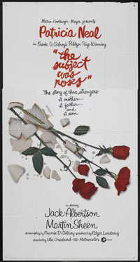 """The Subject Was Roses (MGM, 1968). Three Sheet (41"""" X 81""""). Drama"""