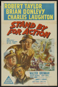 """Movie Posters:War, Stand By For Action (MGM, 1943). Australian One Sheet (27"""" X 40"""").War. ..."""